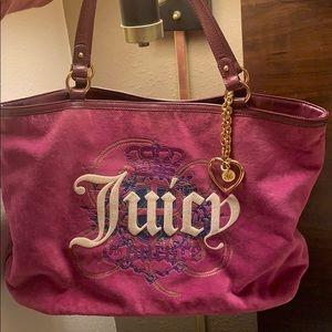 🆕Large Fuscia Juicy Couture Tote